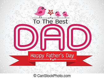papa, idée, ton, père, conception, jour, carte, heureux