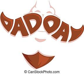 papa, jour, moustache, figure