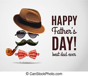 papa, masculin, jour, fond