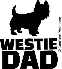 papa, montagne occidentale terrier