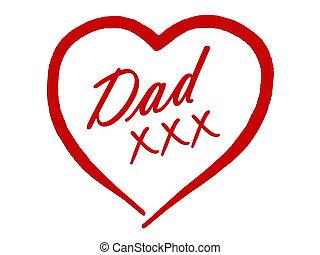 papa, père, anniversaire, jour, carte