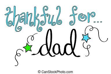 papa, reconnaissant