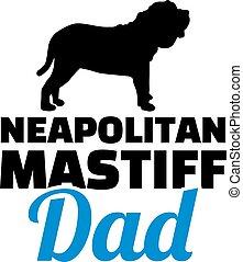 papa, silhouette, neapolitan, mastiff