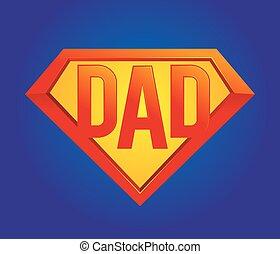 papa, symbole, superhero
