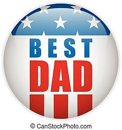 papa, usa, vaders, amerikaan, dag, vrolijke