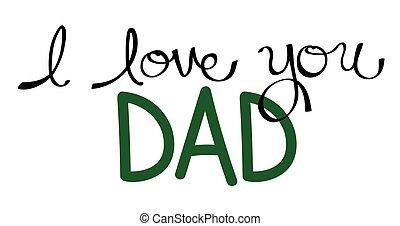 papa, vert, vous, amour