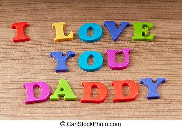 papa, vous, amour, message