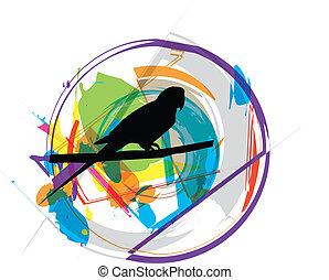 papagaio, ilustração