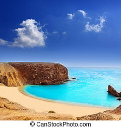 papagayo, el, praia, lanzarote, playa, canaries