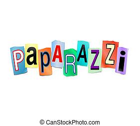 Paparazzi concept. - Illustration depicting cut out letters...