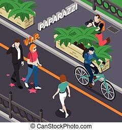 Paparazzi Isometric Illustration