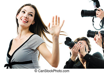 paparazzi - Photographers are taking a picture of a film ...