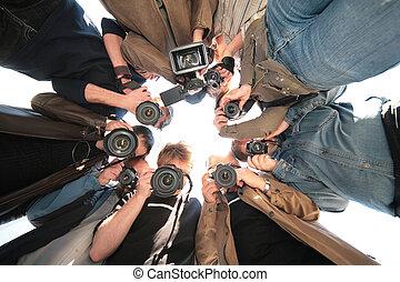 paparazzi, sur, objet