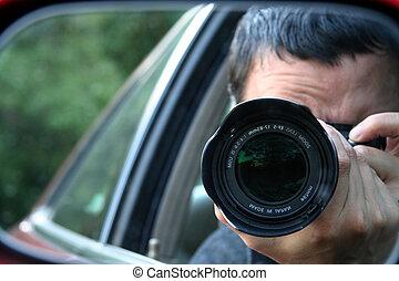 Paparazzi Taking a Photo