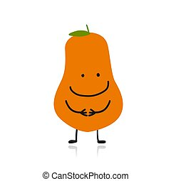 Papaya, cute character for your design