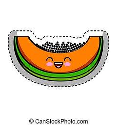 papaya fresh fruit comic character