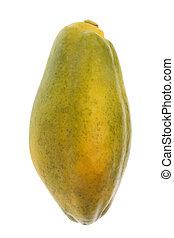 Papaya Isolated - Isolated image of a Malaysian papaya.