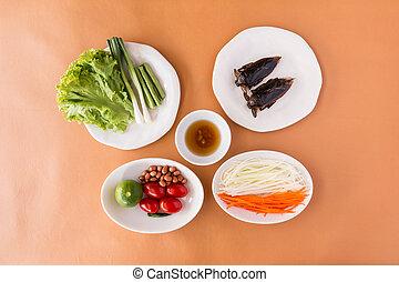 Papaya Salad - Lethocerus indicus (Giant water bug) and...