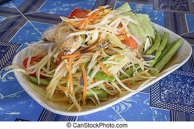 Papaya salad with crab