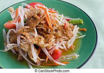 papaya salad with crab, thai food
