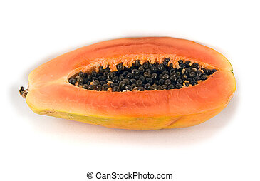 Tropical fruit on isolated background