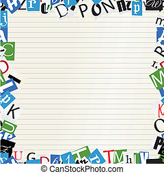 pape, frame, brieven, achtergrond