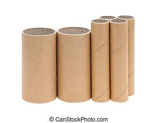 papelão, cilindros