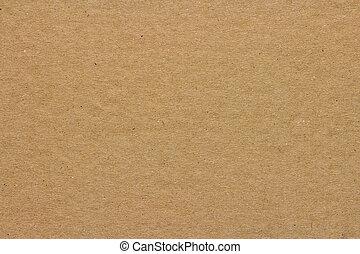 papelão, ou, fundo, textura