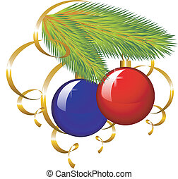 papel, árvore, flâmula, ramo, natal
