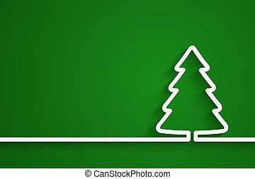 papel, árvore, natal, criativo