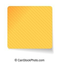papel, adesivo, vetorial, amarela