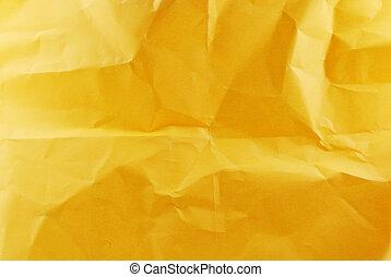 papel amarrotado