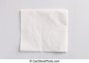 papel, amarrotado