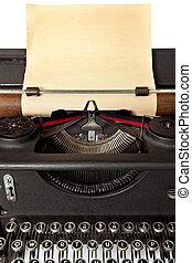papel, antigas, máquina escrever