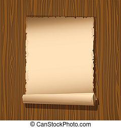 papel, antigas, madeira