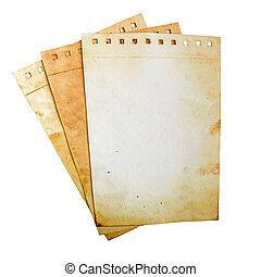 papel, antigas, páginas