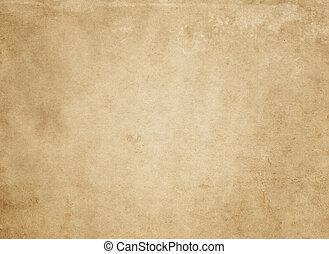 papel, antigas, sujo, yellowed, texture.