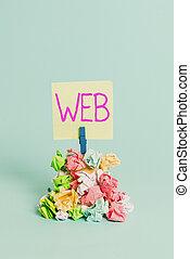 papel, apoyo, recordatorio, escritura, web., significado, ...