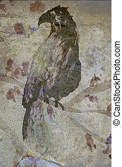 papel, asiático, pássaro