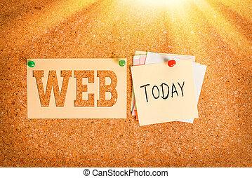 papel, aviso, apoyo, chinche, escritura, web., formatted, ...