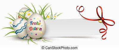 papel, bandera, cinta, huevos de pascua