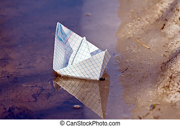 papel, barco