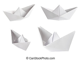 papel, barcos, colección
