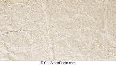 papel, beige, papel arrugado, textura, envoltura, viejo, kraft