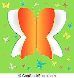 papel, borboleta