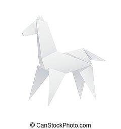 papel, caballo, origami