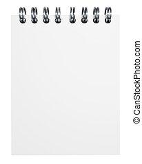 papel, caderno, em branco