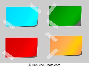 papel, cinta adhesiva, coloreado