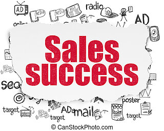 papel, concept:, sucesso, fundo, marketing, rasgado, vendas