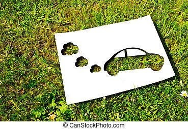 papel, corte, energía, concepto, renovable